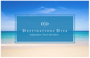 Destination Diva Logo beach background