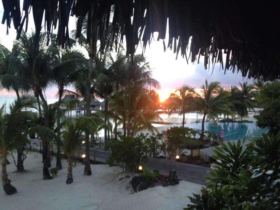 Hilton Bora Bora Sunset